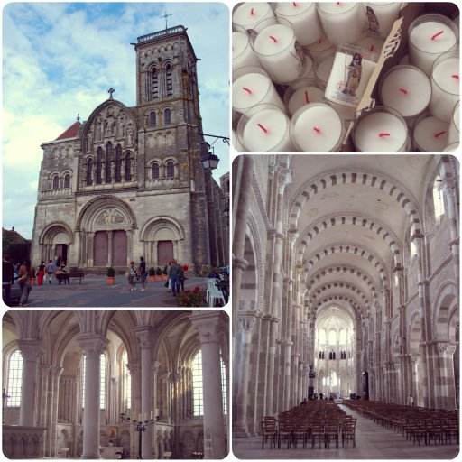 Vezelay-abbey-Collage